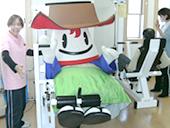 津島のキャラクター「つし丸くん」も体験に来てくれました。