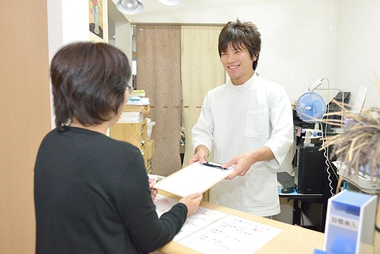 step1.受付と問診票の記入